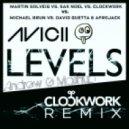 Avicii Vs Martin Solveig Vs. Sak Noel Vs. Clockwork Vs David Guetta & Afrojack - Hello, Loca Levels Vs. Lunar (Andrew G Monster Mashup)