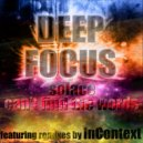 Deep Focus - Can\'t Find the Words (Original Mix)